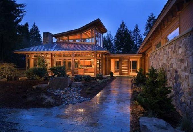 Лесной эко-дом в скандинавском стиле 1
