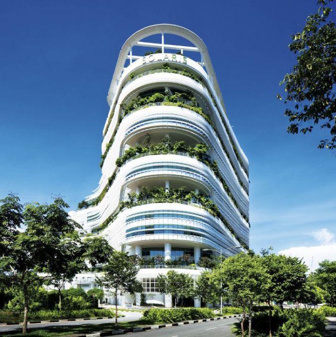 Сингапурский научный центр с вертикальным садом 1