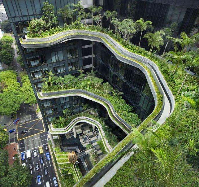 Эко-архитектура года: гостиница-сад в Сингапуре 1