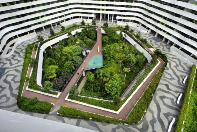 Пассивный тропический жилой комплекс в Сингапуре 2
