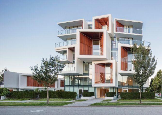 Жилой комплекс с живой крышей в Канаде 1
